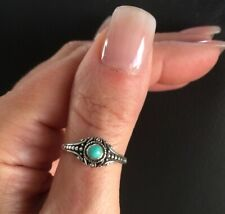 Bali Turquoise  Ring 925 Sterling Silver