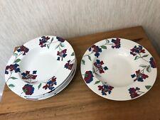 6 x Arthur Wood `HYDRANGEA` Floral Soup Dessert Bowls