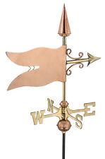 Banner Polished Copper Weathervane