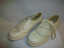 Ladies' MASON'S Golf Shoes sz 6D w/ Metal Spikes Cleats Beige