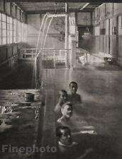 1929 JAPAN Photo Gravure NUDE MALE Men Izusan BATH HOUSE Hot Springs Art FELLNER