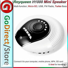 Royqueen H1000 Turbo Bass portable Mini Speaker for iPhone Samsung. SD, FM Radio