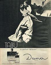 PUBLICITE ADVERTISING 024   1965   DANA  parfum  TABU