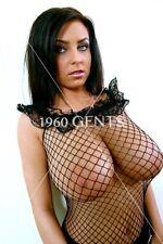 NUDE 8X10 PHOTO OF BUSTY BIG BREASTS EWA SONNET BIG NIPPLES AREOLAS TITS-ES55