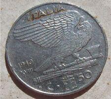 50 Centesimi Regno d'Italia V. Emanuele III° tipo IMPERO XVIII 1940L- n. 878