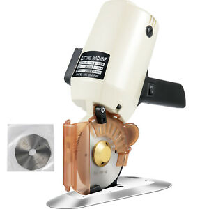 "4"" Electric Cloth Cutter Cutting Machine Rotary Blade 100mm Fabric Octa Round"