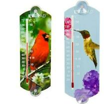 Window Thermometers (Cardinal or Hummingbird)
