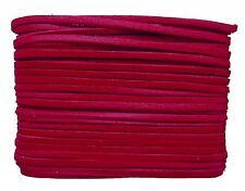 weiches Leder Flechtband Ziegenleder auf Karte rot, Länge 10 m, Breite ca. 2,5 m
