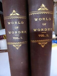 WORLD OF WONDER VOLS 1 & 2 RARE COMPLETE SET HARDBACK CIRCA 1930