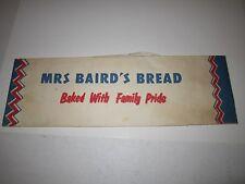VINTAGE MRS. BAIRD'S BREAD PAPER HAT - TUB BMA