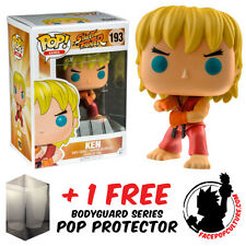 FUNKO POP STREET FIGHTER KEN SPECIAL ATTACK EXCLUSIVE + FREE POP PROTECTOR