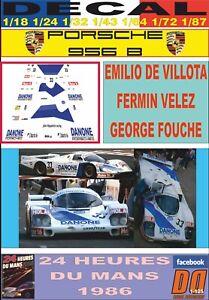 DECAL PORSCHE 956 B EMILIO DE VILLOTA–FERMIN VELEZ–FOUCHE LE MANS 1986 (06)