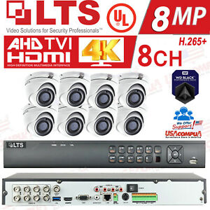 LTS 8ch Security Cameras System Kit 5MP H.265+ HD-TVI 4K/ HDD Included / IP67 UL