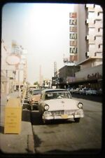 Vintage Photo Slide 1950s Old Las Vegas Fremont Golden Nugget Street Scene Cars