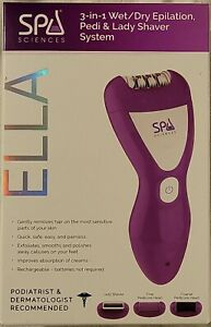 Ella SPA SCIENCES 3-in-1 Wet/Dry Epilation, Pedi and Lady Shaver System
