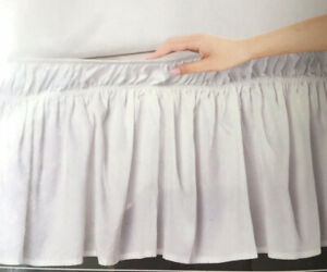 HOTEL LUXURY COLLECTION FULL QUEEN RUFFLE BED SKIRT WHITE COLOR NIP