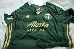 Mens Adidas MLS Portland Timbers FC Official Jersey Green Sz 2XL BNWT