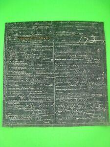 Vintage Certified Copy of Original JOHN DILLINGER DEATH CERTIFICATE..