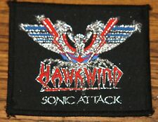 HAWKWIND SONIC ATTACK ORIGINAL VINTAGE 1981 EMBROIDERED SEWING SEW ON PATCH