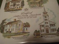 """Original WESTFORD Middlesex County Massachusetts Ceramic Tile 6X6"""" Trivet 203"""