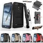 For LG Stylo 3 /Plus HYBRID Shockproof Rugged Hard Case Cover Clip Holster Armor
