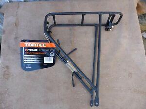 Tortec Tour Ultralite Rear Pannier Rack - Black Bike/Cycling/Touring/Audax