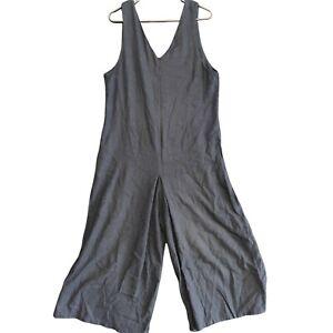 Sevendays Womens Navy Blue Sleeveless Jumpsuit Linen Blend Size L
