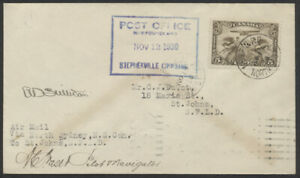 1930 AAMC #3065a North Sydney NS to St John's Newfoundland Cover 2 Pilots Signed