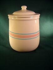 Vintage McCoy USA - Pink & Blue Stripe Cookie/Sugar/Flour Cannister #133