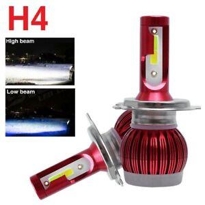 1Pair H4 HB2 9003 72W 16000LM LED Headlight Kit High 6000K Low 8000K Beam Bulbs