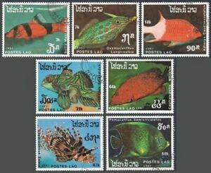 Laos 820-826,CTO.Michel 1038-1044. Fish 1987.