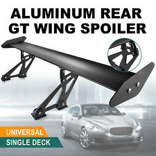 Universal Adjustable Hatch Aluminum GT Rear Trunk Racing Spoiler Wing Black
