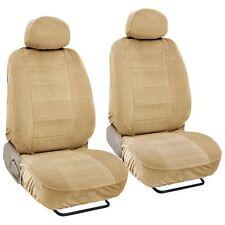 Encore 4 Pcs Low Back Beige Seat Covers for Auto Cars SUVS Vans - Front Pair