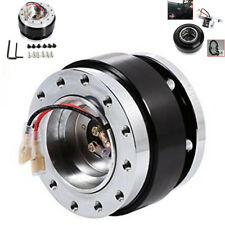 Black Car Steering Wheel Quick Release Hub Adapter Snap Off Boss Kit W/ Screws