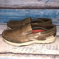 Rockport walkability Mens Brown Leather Walking Slip On Loafers size 11 M