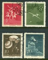 China 1958 PRC S29 Sports Aviation Full Set Scott #394-97 VFU S397
