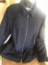 Ladies Per Una quilted jacket/coat ~ size 18 ~ Navy stretch sides