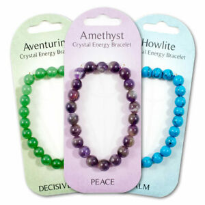 New crystal energy gemstone power bracelets. 12 to pick from. gift, present idea