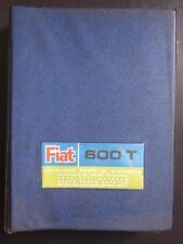 FIAT 600 T 2 cataloghi parti ricambio meccanica + carrozzeria originali