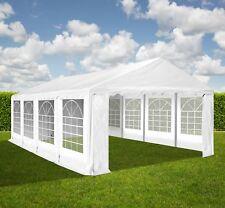 XXL 4x8 m PVC Bierzelt Zelt Pavillon Partyzelt Festzelt Verein Gartenzelt weiß