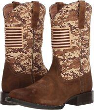 Ariat 245968 Mens Sport Patriot Western Boots Suede/Sand Camo Size 8 D Medium