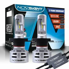 NOVSIGHT Car LED Headlight 60W 10000LM White Dual Hi/Lo Kit Bulbs - H4 HB2 9003