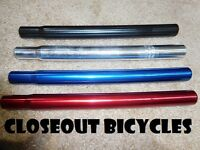 "ANY Red Blue Black Alloy 1"" Seat Post 25.4 Lowrider Cruiser Bicycle ROAD MTB BMX"