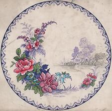 J H WEATHERBY FALCON WARE original en céramique design Aquarelle c1920.