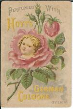 BA-267 Hoyt's German Cologne Perfume 1890-1910 Victorian Advertising Trade Card