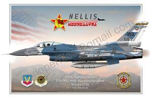 F-16  64th Aggressor Squadron - Poster Profile