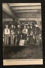 postcard Netherlands Mine mining bergbau Reddingsbrigade Staatsmijn Wilhelmina