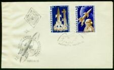Hungary 1961 FDC Gagarin/Space set imperf