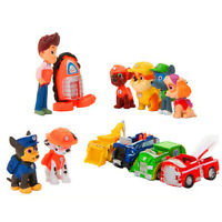 12pcs Set Rescue Dog Action Figure Model TV Cartoon Anime kids Gift