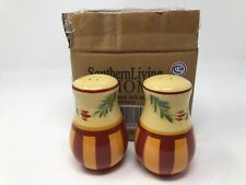 Southern Living Gail Pittman Hand-Painted Salt and Pepper Shaker Set Siena